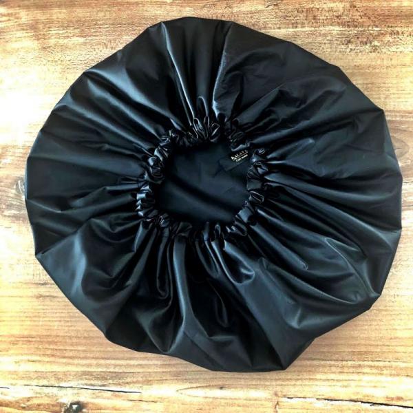 bonnet de douche noir