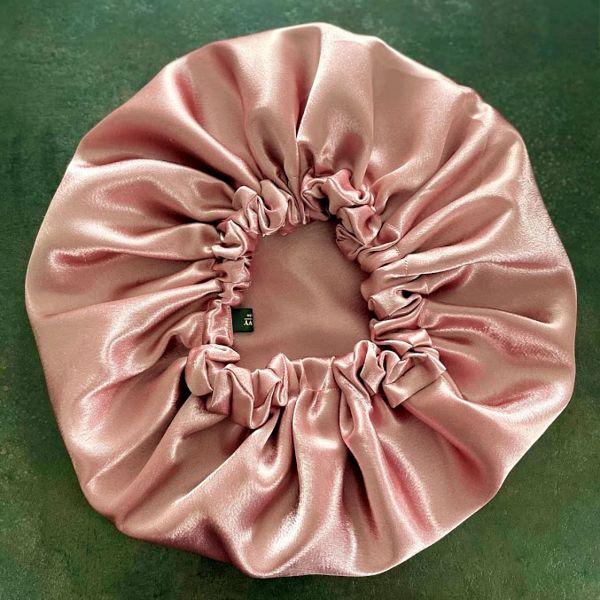 bonnet de nuit satin rose des bois