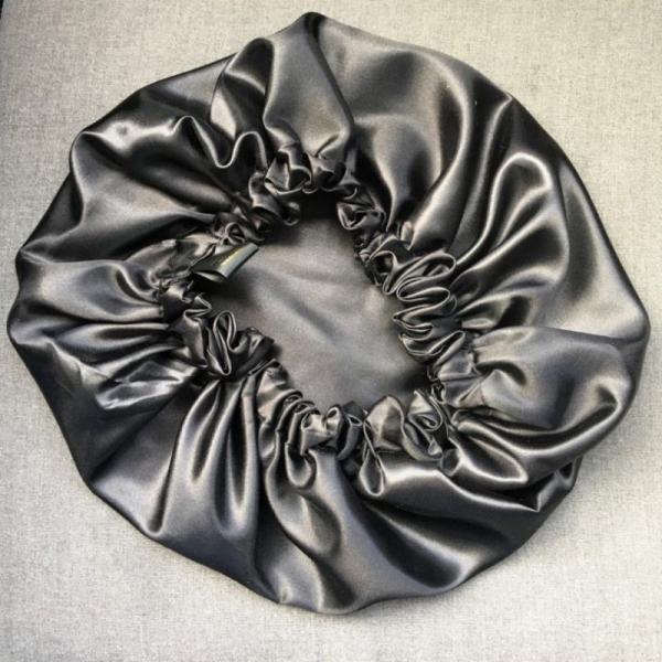 bonnet de satin kit noir