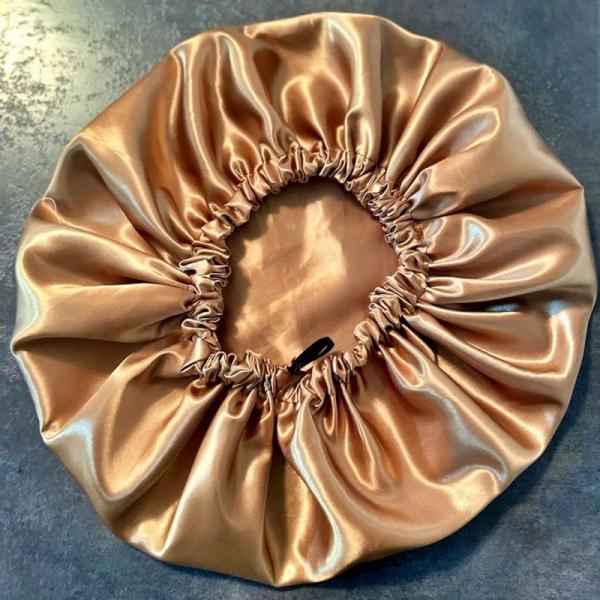Bonnet en satin Bronze Kalavy