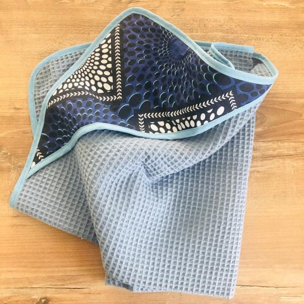 cape de bain bleu kalavy
