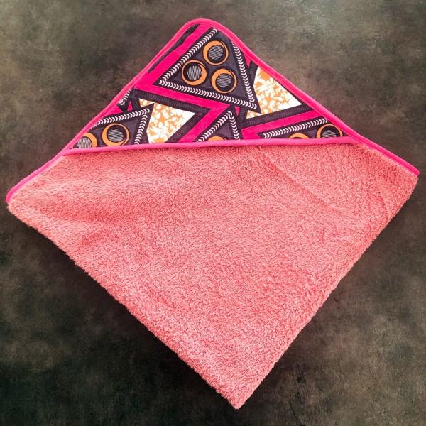 cape de bain rose kalavy