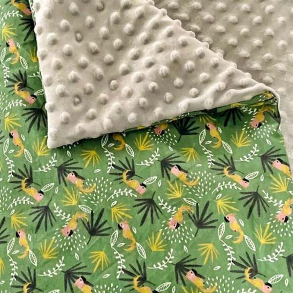 couverture bébé perroquet