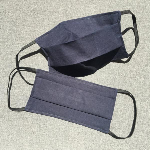Masque en tissu bleu marine