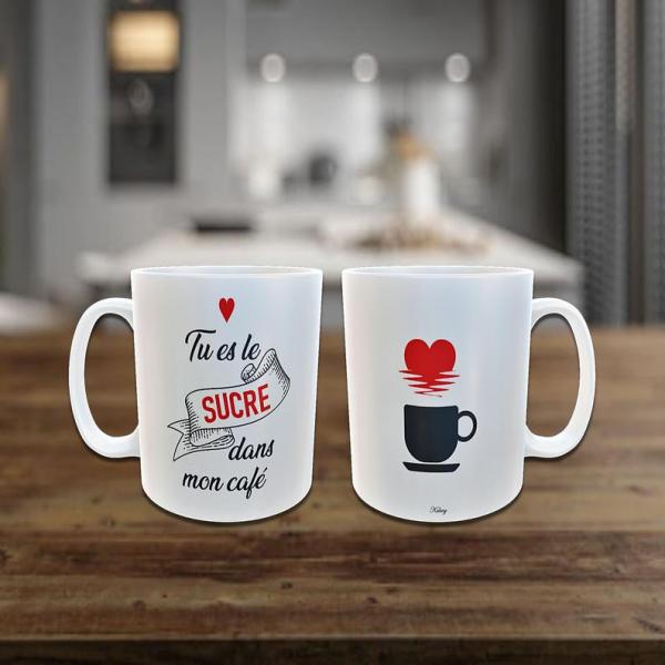 Mug sucre dans le café
