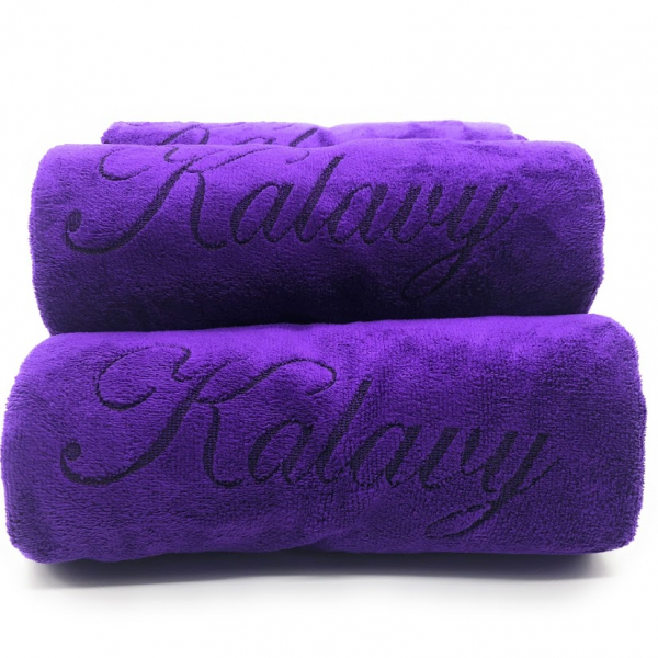 serviette violet kalavy 2
